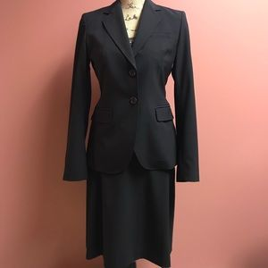 Banana Republic Black Two-Piece Business Suit